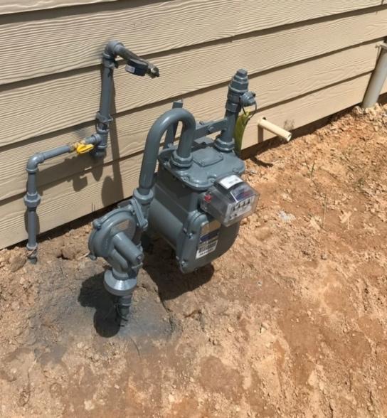 Gas Metter Pipes plumbing Job 1