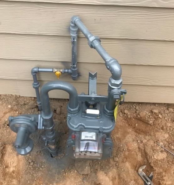 Gas Metter Pipes Plumbing Job